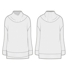 White knitted sweater vector