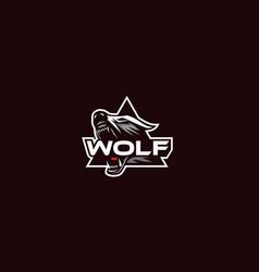 wolf logo icon emblem vector image
