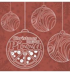 Abstract Christmas menu for Pizza vector image