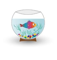 aquarium with fish isolated vector image