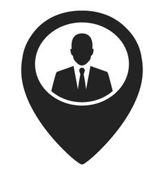 Businessman black web pointer icon vector