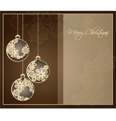 christmas decoration vector image vector image
