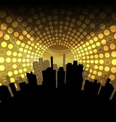 city celebration vector image