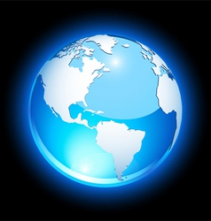 crystal earth vector image vector image
