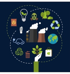 Environmental and ecological conservation concept vector image vector image