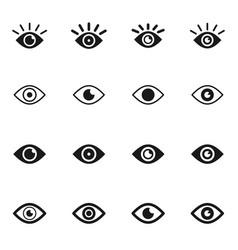 eyes icon vector image