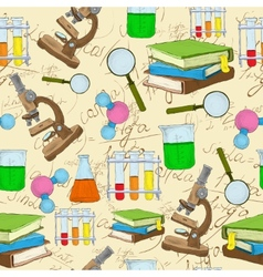 Science sketch seamless background vector image vector image