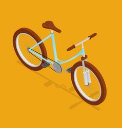 bike retro isometric view vector image