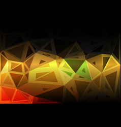 black brown yellow green random sizes low poly vector image vector image