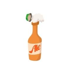 Open bottle of beer cartoon icon vector image vector image