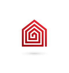 real estate house logo icon design template vector image vector image