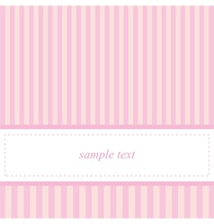 Card invitation template for baby shower wedding vector image