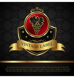golden label for packing wine vector image vector image