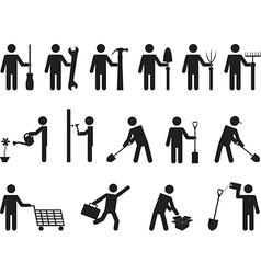 People pictogram activities vector image vector image
