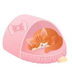 Sleeping kitten vector