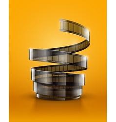 Spiral of cinematography film vector image