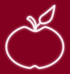 the apple image vector image vector image