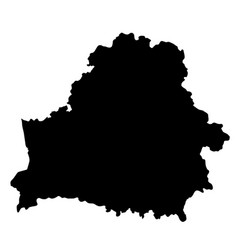 black silhouette country borders map of belarus vector image vector image