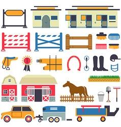 Horse Riding set vector image