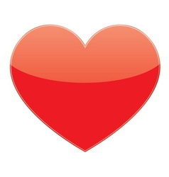 love red heart vector image vector image