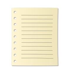 Sheet of notebook cartoon icon vector image