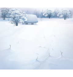 winter snow house vector image vector image