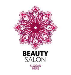 abstract logo lace for beauty salon vector image