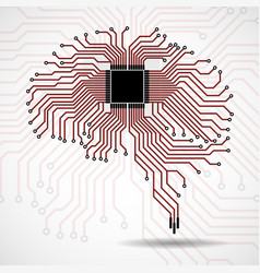 abstract technological brain cpu vector image