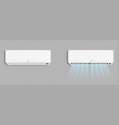 Air conditioner with cold wind waves conditioning vector