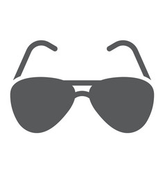 Aviator sunglasses glyph icon travel and tourism vector