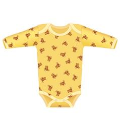 baby bodysuit vector image