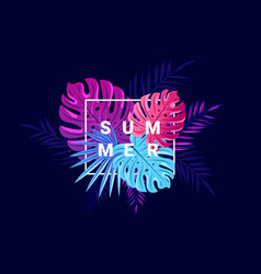 bright tropical summer background with jungle vector image