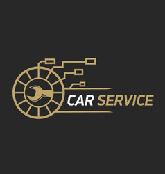 car service logo template design icon or label vector image
