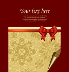 Celebration Floral Gold Background vector image