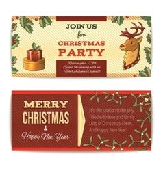 Christmas banners horizontal vector