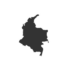 colombia map on white background vector image
