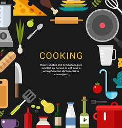 Cooking Concept in Flat Design Style for Web vector image