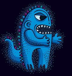 Cool cartoon angry monster freak weird creature vector
