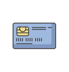Credit card front rgb color icon vector