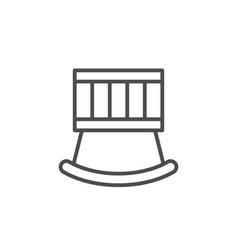Crib line icon vector