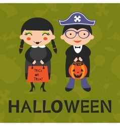 Cute Halloween kids vector