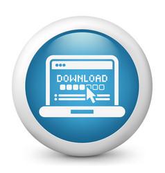 download progress pc icon vector image