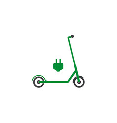 electric scooter icon flat vector image