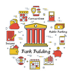 finance and banking concept - bank building vector image