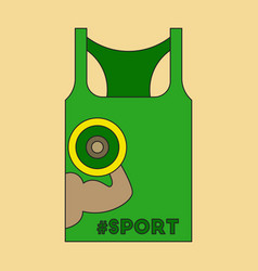 Flat icon on stylish background sports shirt vector