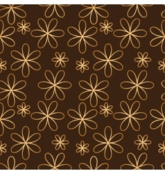 Flower seamless pattern golden color vector