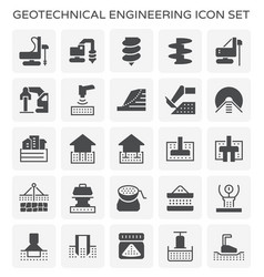 geotechnical engineering icon vector image
