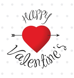 Glossy Happy Valentine s label with heart vector