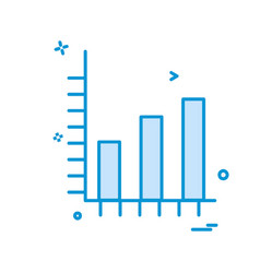 graph icon design vector image