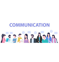 group people cartoon man woman communication vector image